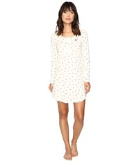 Lauren Ralph Lauren Rib Knit Sleep Tee Rosebud Cream Women's Pajama White