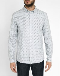 Minimum White Fidel All Over Pattern Shirt Grey