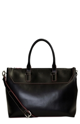 Lodis 'Audrey Wilhelmina' Leather Work Satchel Black