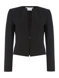 Hugo Boss Jency Fitted Hook And Eye Jacket Black