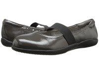 Softwalk High Point Dark Grey Crinkle Patent Leather Women's Shoes Black