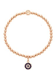 Melissa Odabash Rose Gold Crystal Evil Eye Ball Bracelet Rose Gold
