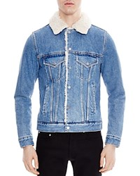Sandro Trucker Jacket Blue Vintage Denim