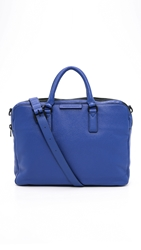 Marc By Marc Jacobs Classic Leather Briefcase Mineral Blue