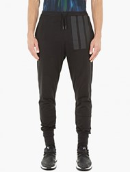 Y 3 Black Cotton Jersey Long Johns