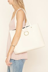 Forever 21 Loop Ring Faux Leather Tote