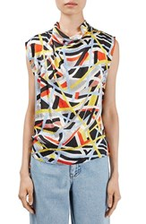 Topshop Women's Boutique 'Metro' Funnel Neck Sleeveless Top