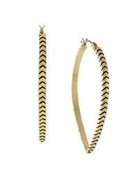 Bcbgeneration Chevron Hoop Earrings Goldtone