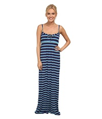 Carve Designs Coco Maxi Dress Anchor Baja Women's Dress Blue