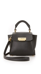 Zac Posen Eartha Top Handle Mini Cross Body Bag Black