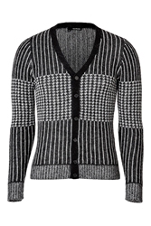 The Kooples Mixed Knit Cardigan