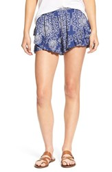 Rip Curl Women's 'Dakota Rose' Print Woven Shorts Navy