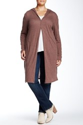 24 7 Comfort Knee Length Shrug Plus Size Brown