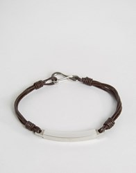 Seven London Cross Cord Bracelet In Brown Brown