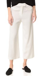 Veronica Beard Lee Cropped Wide Leg Pants White