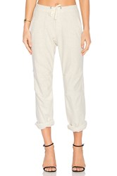 James Perse Heathered Knit Twill Pant Ivory