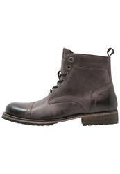Pepe Jeans Melting Med Laceup Boots Brown Dark Brown