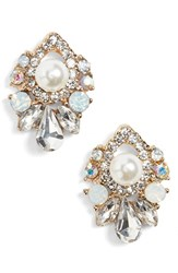 Sole Society Women's Crystal And Pearly Bead Earrings