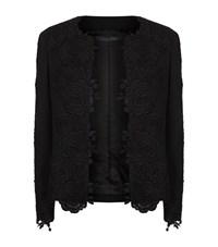 Elie Saab Floral Embroidered Jacket Female Black