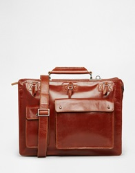 Royal Republiq Telegraph Leather Satchel Brown