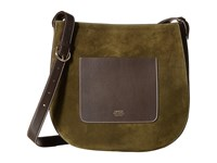 Frances Valentine Large Ellen Suede Shoulder Satchel Olive Satchel Handbags