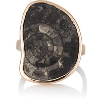 Dezso By Sara Beltran Women's Fossilized Ammonite Ring No Color