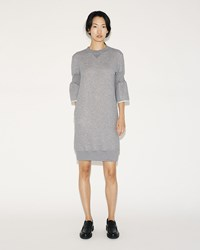 Sacai Sweatshirt Dress Light Grey