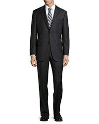 Hickey Freeman Lindsey Two Piece Micro Stripe Suit Gray