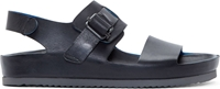 Officine Creative Black Leather Buckle Sandals