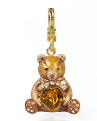 Teddy Bear With Heart Charm Jay Strongwater Multi Colors