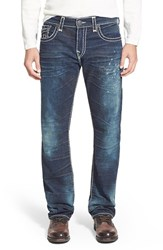 Men's Big And Tall True Religion Brand Jeans 'Ricky' Relaxed Straight Fit Jeans Dry Brush