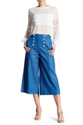 Endless Rose Buttoned Gaucho Pant Blue