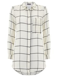 Mint Velvet Check Pocket Shirt Ivory