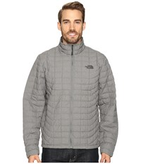 The North Face Thermoball Full Zip Jacket Fusebox Grey Texture Men's Coat Gray