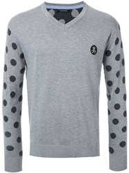 Guild Prime Polka Dot Intarsia Sweater Grey
