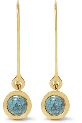 Scosha Gold Plated Turquoise Earrings Gold Turquoise