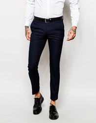 Noose And Monkey Trousers With Stretch In Skinny Fit Navy
