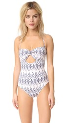 Eberjey Rumba Lola One Piece Pale Pink Deep Blue