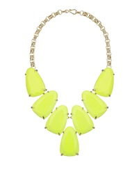 Kendra Scott Harlow Magnesite Statement Necklace Neon Yellow