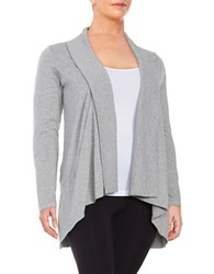 Marc New York Open Front Knit Cardigan Light Heather Grey