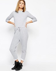 Daisy Street Relaxed Jumpsuit With Draw String Waist And Raw Hems Gray