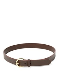Ralph Lauren Milford Endbar Belt Dark Brown Brown