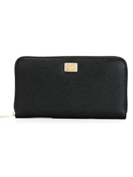 Dolce And Gabbana 'Dauphine' Zip Around Wallet Black