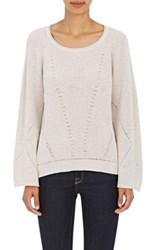 Skin Women's Pointelle Stitched Cotton Sweater Nude