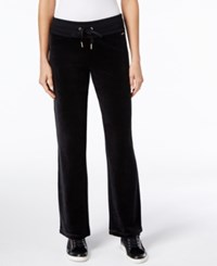 Calvin Klein Velour Wide Leg Active Pants Black