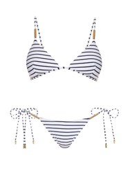 Melissa Odabash Verona Shoulder Strap Triangle Bikini Black Stripe