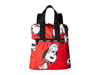 Le Sport Sac Everyday Backpack Snoopy Fun Red Backpack Bags