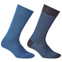 John Lewis Made In Italy Egyptian Cotton Birdseye Socks Pack Of 2 Teal