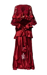 Romance Was Born Crimson Magnolia Gown Red
