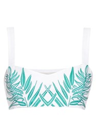 Mara Hoffman Palm Tree Embroidered Cropped Top